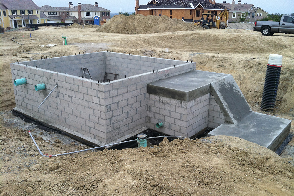 Back Yard Excavation : Backyard bunker fassino development